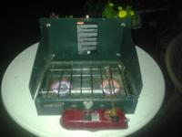 UP FOR SALE, A USED COLEMAN CAMPING STOVE IN EXELENT
