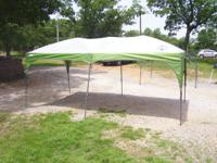 Coleman Big 16' X 8' easy up canopy has 6 legs for