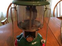 Model 220J Coleman liquid fuel, double mantle lantern