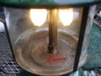 Coleman Lantern. This is a white gas lantern that works