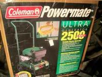 For Sale-2500 Watt Coleman Powermate. 5 hp motor.Less