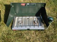 Coleman 2-Burner Stove  Uses Propane Works great Like