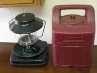 Coleman Propane 2 mantle Lantern with carrying case,