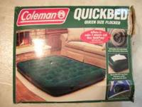 Coleman Queen Size Air Bed With Battery Air Pump