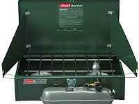 COLEMAN TWO BURNER LIQUID FUELED STOVE it's the