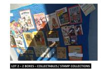 LOT 2  2 Boxes Collectables, Vintage Magazines, Vintage