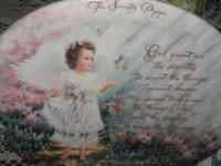 "This is the ""Serenity Prayer"" plate w/ stand and"