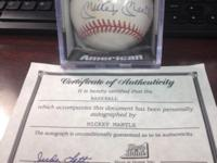 I have four Major League Baseballs with certifications