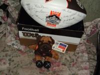 Collectible Cleveland Brown's Enshrinee football and