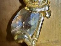 Photo 1) Golden KOALA BEAR (symbol of HOPE) Figurine