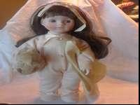 Antique House of Lloyds Porcelain Pajama Baby Doll in