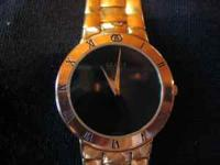 Excellent condition GUCCI 18K Gold electroplated mens