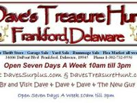 Dave's Treasure Hunt  Frankford, Delaware   Located at