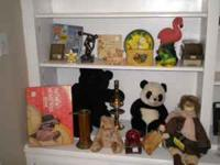 Collectibles Stuffed Animals - black bear, panda bear,