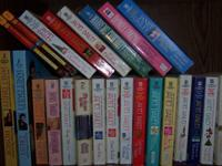 Romance novels, all different in good condition.