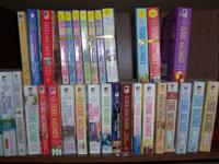 Romance novels, all different, in good condition.
