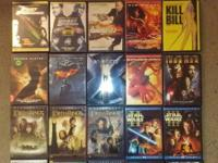 Popular DVDs, all good condition, pictures are mostly