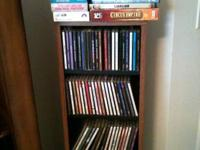 Collection of 110 CD's, 6 DVD's (tower included)  4 VCR