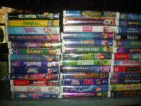 I'm selling my collection of Disney VHS Tapes, 54 of