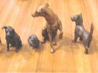 Collection of miniature dog?s 1 cat metal small few