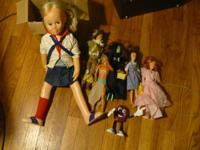 Chatty Kathy Doll and Wizard of OZ Dolls and ET Doll &