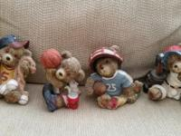COLLECTION OF FOUR GREAT LOOKING SPORTS BEAR FIGURINES