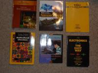 I am selling a collection of 26 text books in excellent