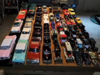 Collection of over 60 diecast cars & trucks. There are