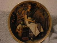 "3 Noel Vitrail Plates.............25.00 ""Tidings of"