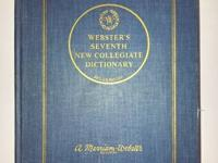 WEBSTER's SEVENTH NEW COLLEGIATE DICTIONARY 1967 -