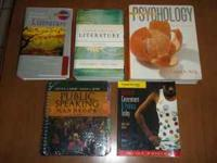 Hello, I have a few college books for sale. I purchased