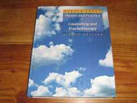 Theory and Practice of Counseling and Psychotherapy by
