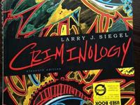 COLLEGE TEXTBOOK-INTRO TO CRIMINOLOGY  HARDBACK LARRY