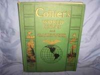 1942 Colliers World Atlas and Gazetteer in excellent