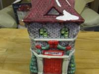 Pretty Christmas village porcelain hotel. This piece