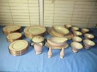 EXCELLENT set of Colonial China, Laurel pattern. Rose