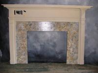 This fireplace mantle was constructed from a kit from