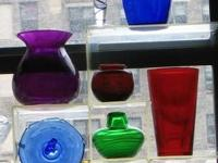 COLOR GLASS VASES: as indicated or all for $34 get