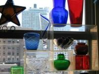 COLOR GLASS VASES: as indicated or all for $38 get