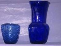 COLOR GLASS VASES: as indicated or all for $40. DARK
