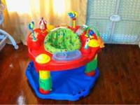 Colorful, clean, like new Evenflo exersaucer. My son