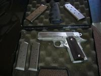 STAINLESS COLT 1911 SERIES 80 45 AUTO ENHANCED OFFICERS
