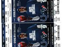 FOR SALE 4 TICKETS IN SECTION 408 ROW 6 SEATS 6, 7, 8