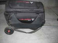 Used columbia 300 2-ball bowling bag on wheels! Has a