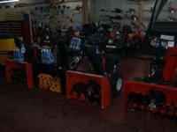 COLUMBIA, HUSQVARNA, AND MCCULLOCH SNOWBLOWERS ARE IN
