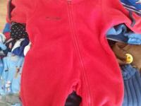 Red is size 6 mo. and Blue is 24 mo.  $8 each