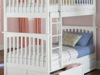 CONDITION: NEW The Columbia Bunk Bed features a classic