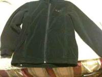 This is a black Columbia youth fleece jacket size
