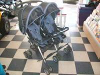 double blue stroller great condition we out grew it