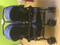 Selling gently used Combi double stroller. Needs a